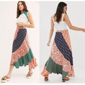 Free People Medley Maxi Skirt in hidden earth